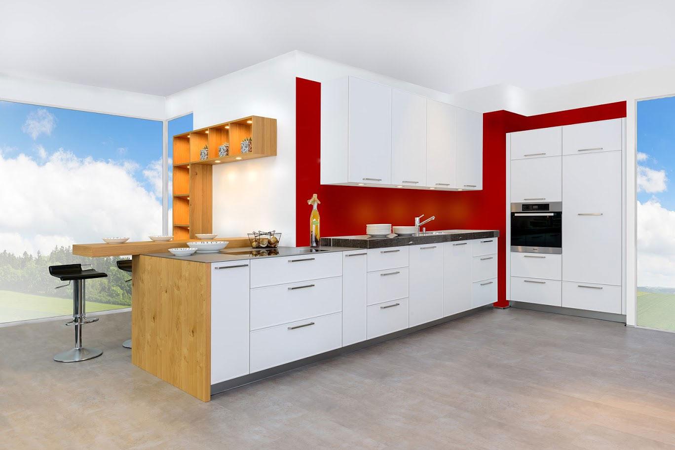 ✅Rote Küchen zu Fabrikpreisen bis zu 50% günstiger!