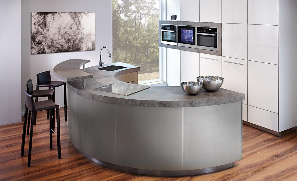 Moderne kuchen hochste qualitat und modernstes design for Kleine einbauküchen